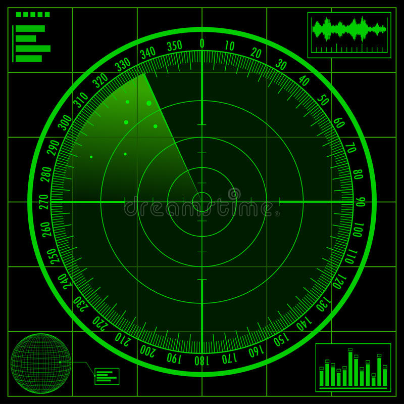 Radarschirm vektor abbildung