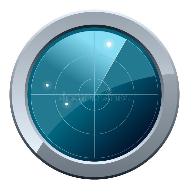 Radarschirm-Ikone lizenzfreie abbildung