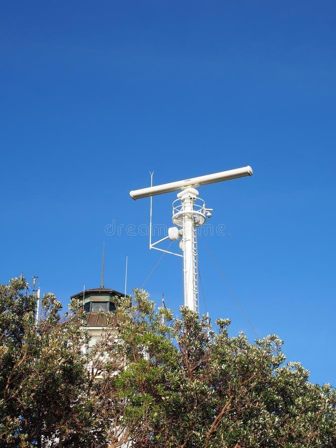Radartorn, södra Head signalstation, Sydney, Australien arkivbilder
