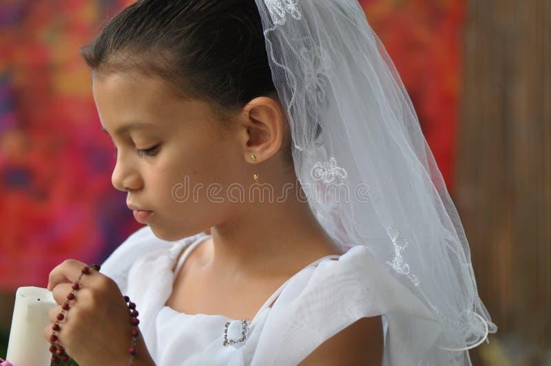 radband för pärlstearinljusbarn royaltyfri foto