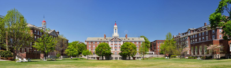 Radcliffe Quadrangle. (The Quad) at Harvard University stock images