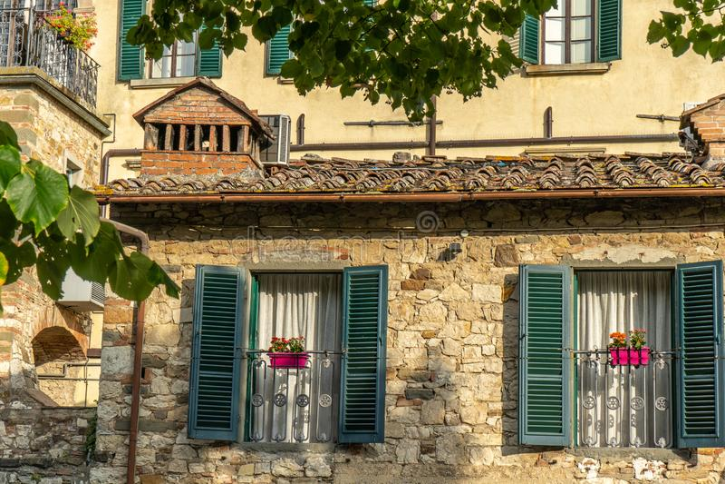 Radda dans le chianti pendant le matin, Toscane, Italie photo stock
