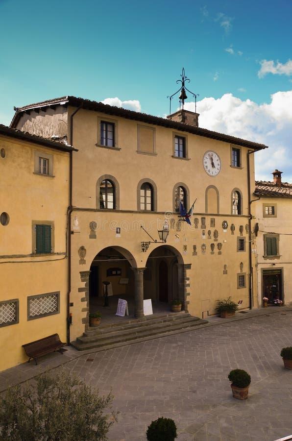 Radda en Chianti, ayuntamiento, Toscana 6 el palacio imagen de archivo
