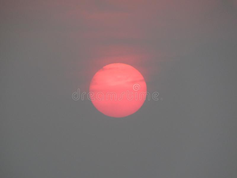 Raddish Sunrise in Puri stock photos