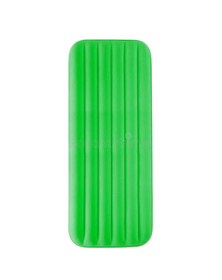 Radeau de flottement vert de piscine images libres de droits
