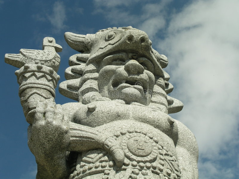 Radegast's statue royalty free stock photo