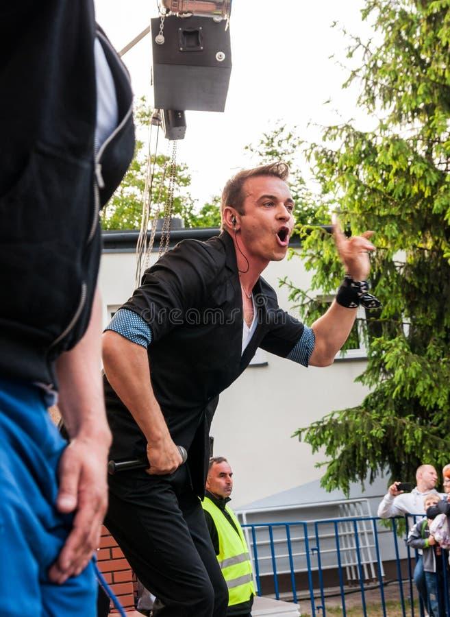 Radek Liszewski, membro del fine settimana polacco della banda di polo della discoteca fotografie stock libere da diritti