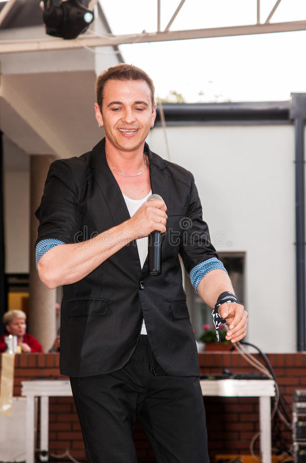 Radek Liszewski, membro do fim de semana polonês da faixa do polo do disco fotografia de stock royalty free