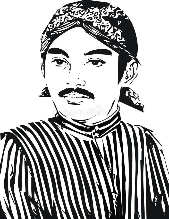 Raden Mas Said Vector royaltyfri illustrationer