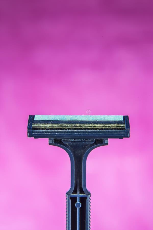 Radendo rasoio utilizzato fotografia stock