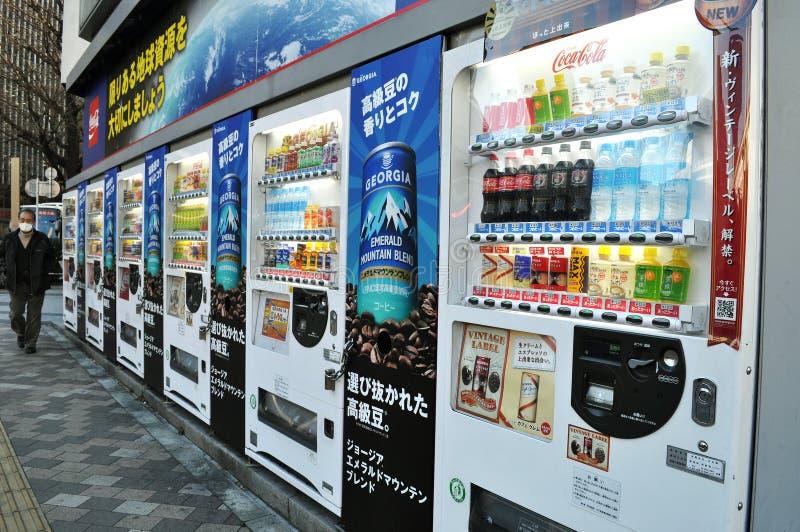 Rader av varuautomater arkivbild