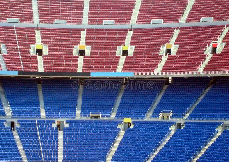 rader som placerar stadion royaltyfri fotografi