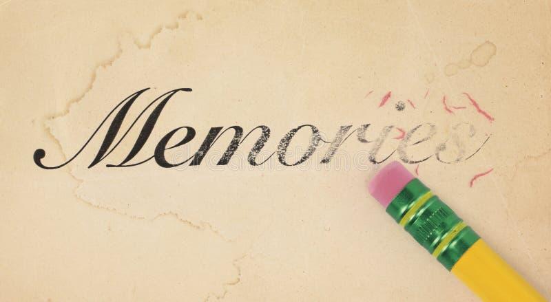 radering av minnen arkivbild