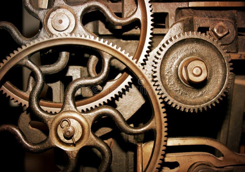 Radertjes in een machine stock fotografie