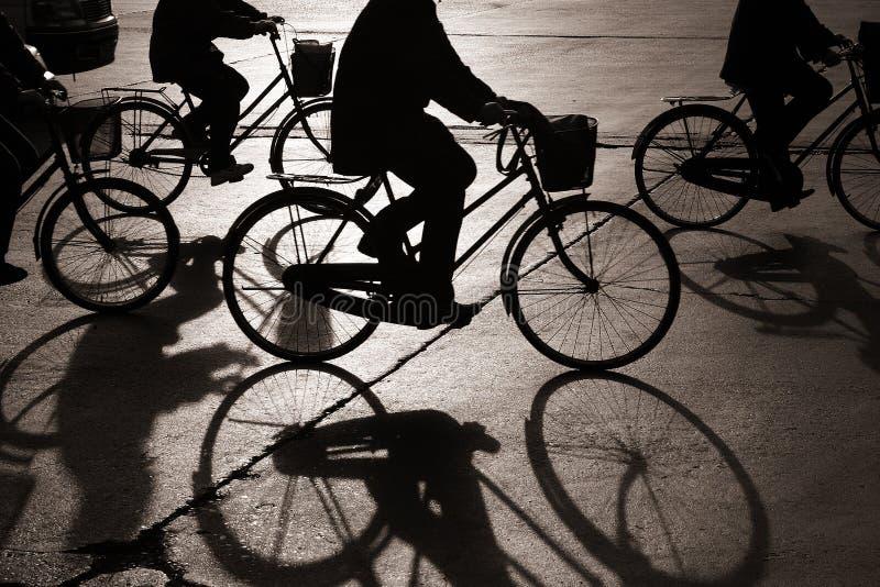Radfahren beim Bejing lizenzfreie stockbilder
