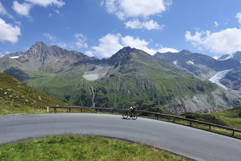 Radfahren in Kaunertal stockfoto
