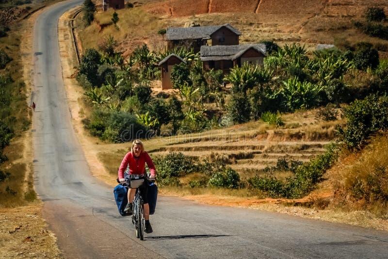 Radfahren in Madagaskar lizenzfreie stockfotos