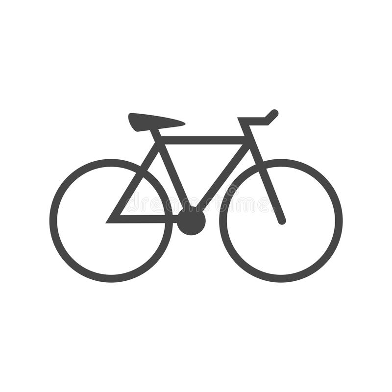 Radfahrenikonen-Vektor lizenzfreie abbildung