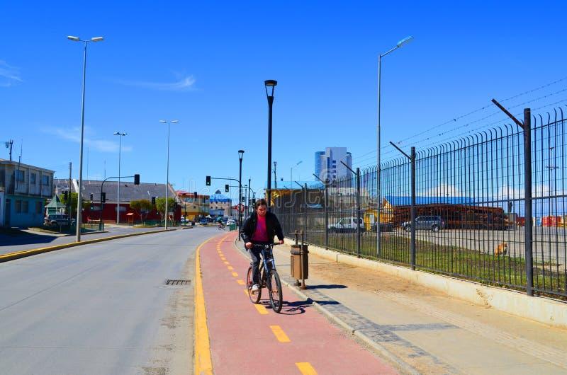 Radfahrenwege Punta Arenas, Chile lizenzfreie stockbilder
