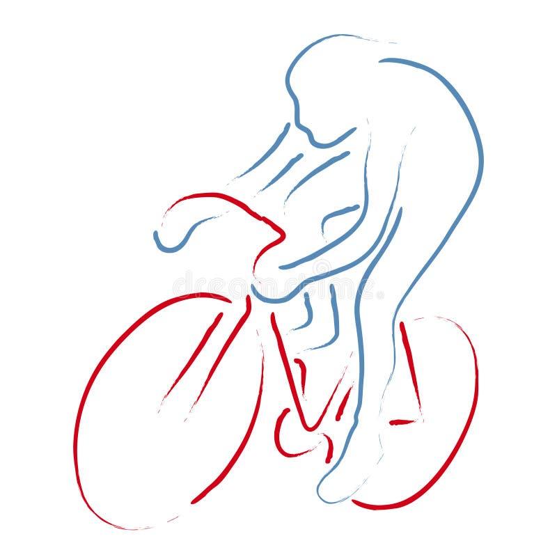 Radfahrer stock abbildung