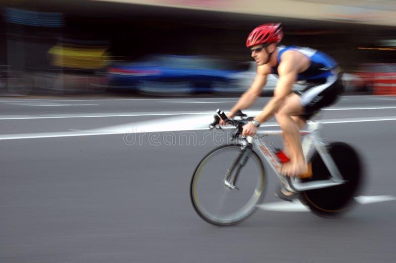 Radfahrer stockbild