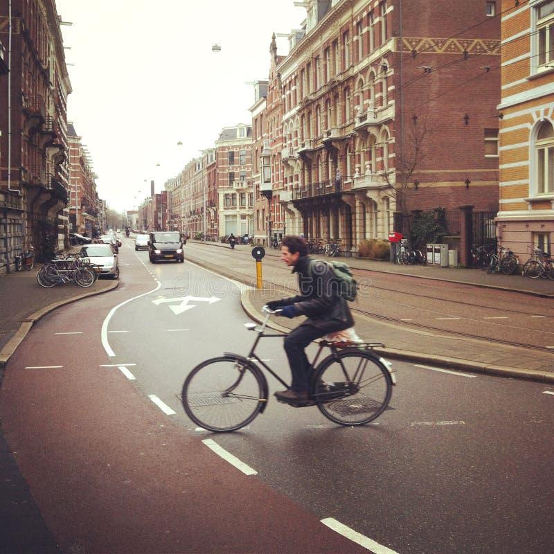 Radfahrer in Amsterdam stockfotografie