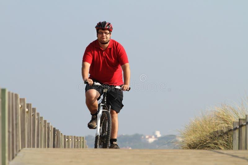 Radfahrer in der Tätigkeit lizenzfreie stockfotografie