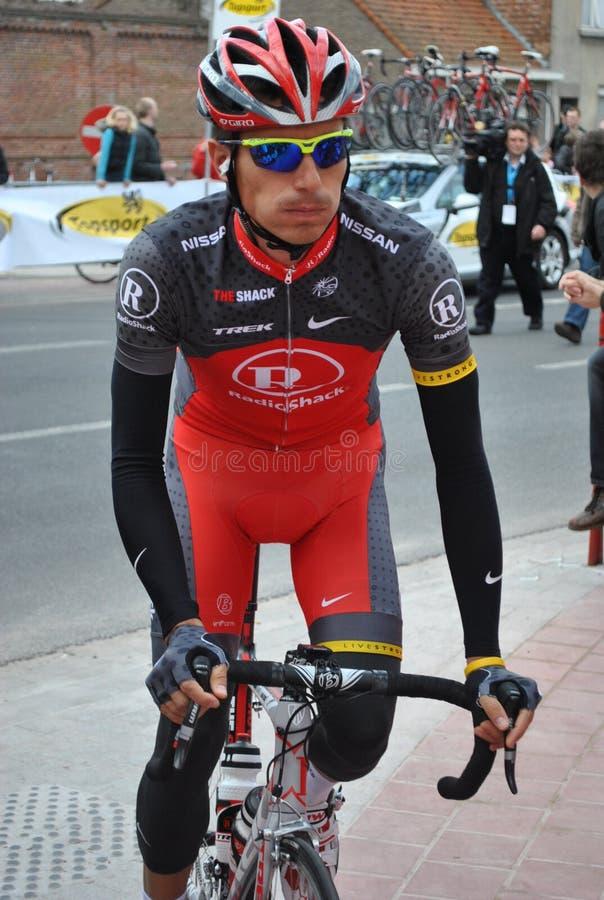 Radfahrer Dmytriy Muravyev stockbild
