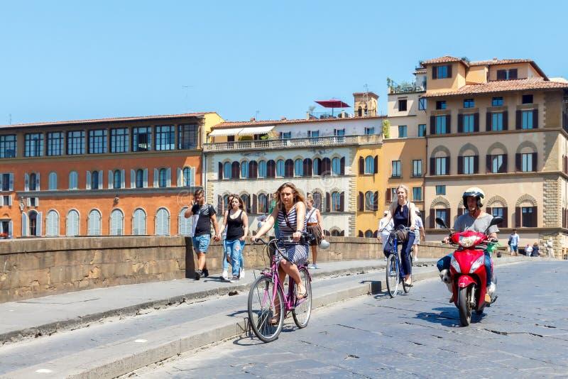 Radfahrer in Florenz lizenzfreie stockfotografie
