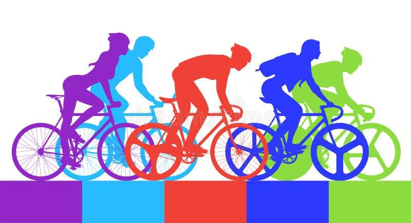 Radfahrer im Radrennen lizenzfreie abbildung