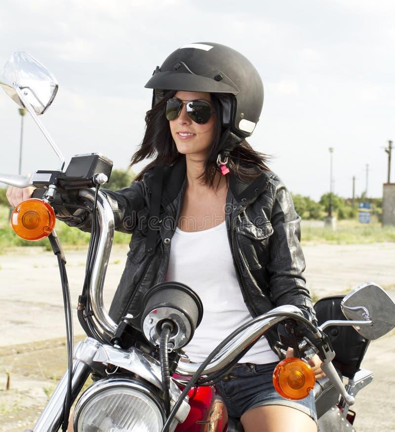 Radfahrermädchen stockbilder
