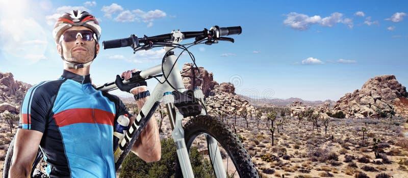 Radfahrerporträt lizenzfreies stockfoto