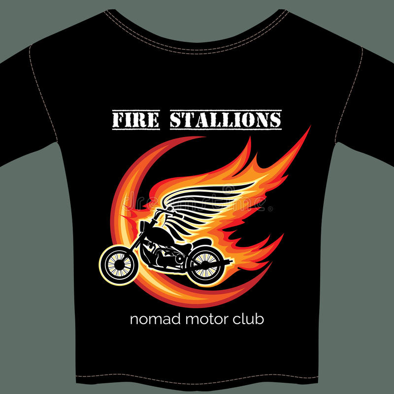 Radfahrert-shirt Schablone lizenzfreie abbildung