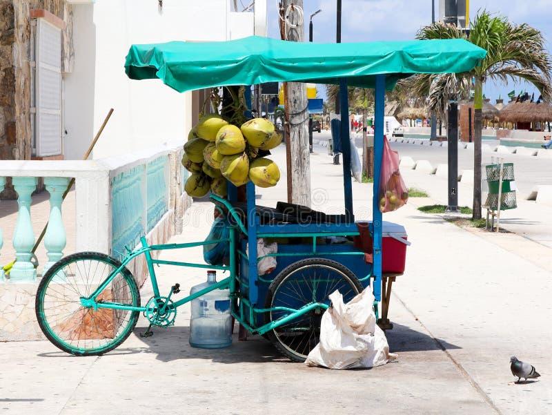 Radfrachtfahrrad-Straßenhändler des Mexikaners 3 in Progresso Yucatan lizenzfreie stockfotografie