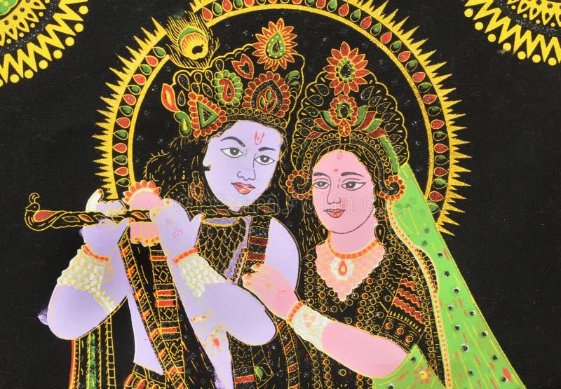 Radha e Krishna. fotografia stock libera da diritti