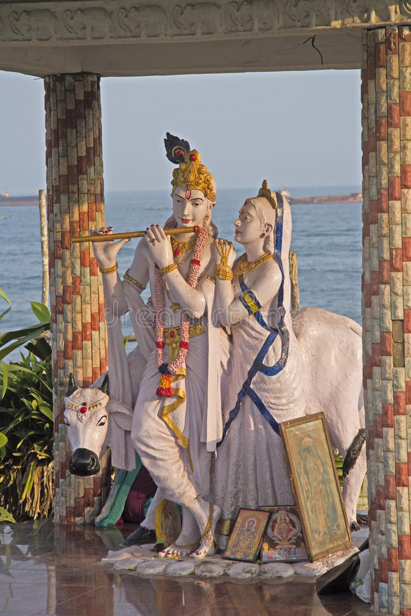 Radha et Krishna images libres de droits