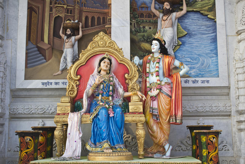 Radha et Krishna image stock