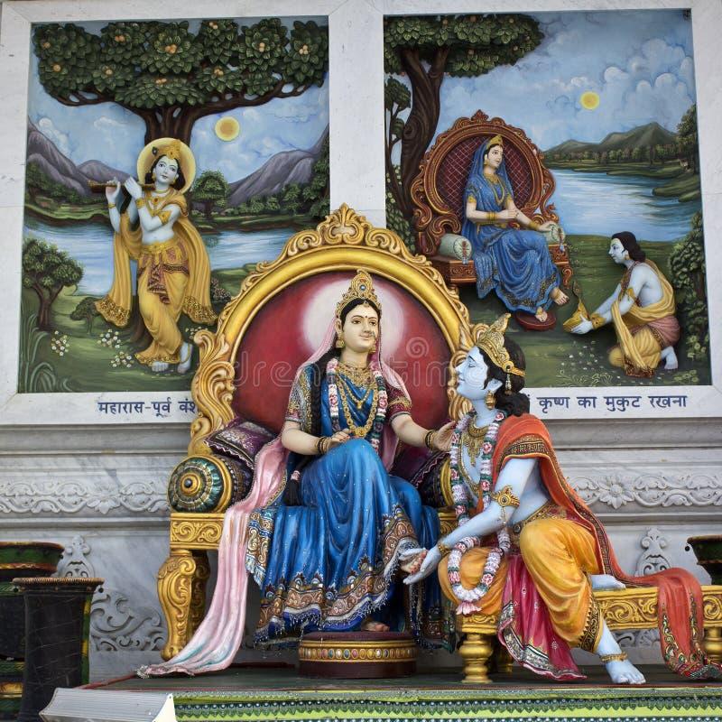 Radha et Krishna photo stock
