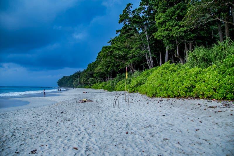 Radhanagar最干净的海滩 免版税图库摄影