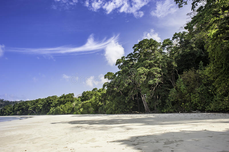 Radhanagar海滩 库存照片