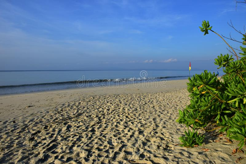 Radhanagar Beach, Havelock Island,Andaman - Crowned as Asia best beach. & 7th best beach in the world, seascape of white sand with perfectly coloured blue stock images