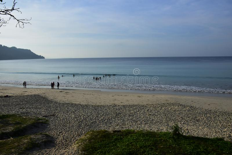 Radhanagar Beach, Havelock Island,Andaman - Crowned as Asia best beach. & 7th best beach in the world, seascape of white sand with perfectly coloured blue stock photos