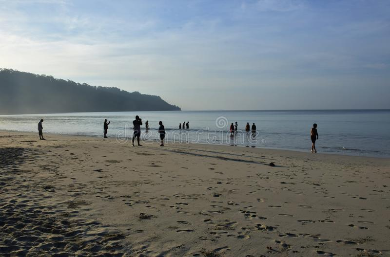 Radhanagar Beach, Havelock Island,Andaman, Asia's best beach. Radhanagar Beach, Havelock Island,Asia's best beach& 7th best beach in the world royalty free stock photo