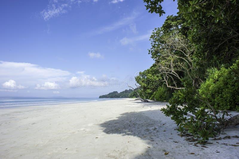 Radhanagar strand royaltyfria bilder