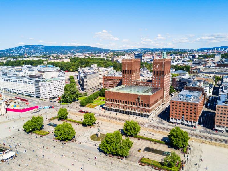 Radhus urząd miasta, Oslo obraz royalty free