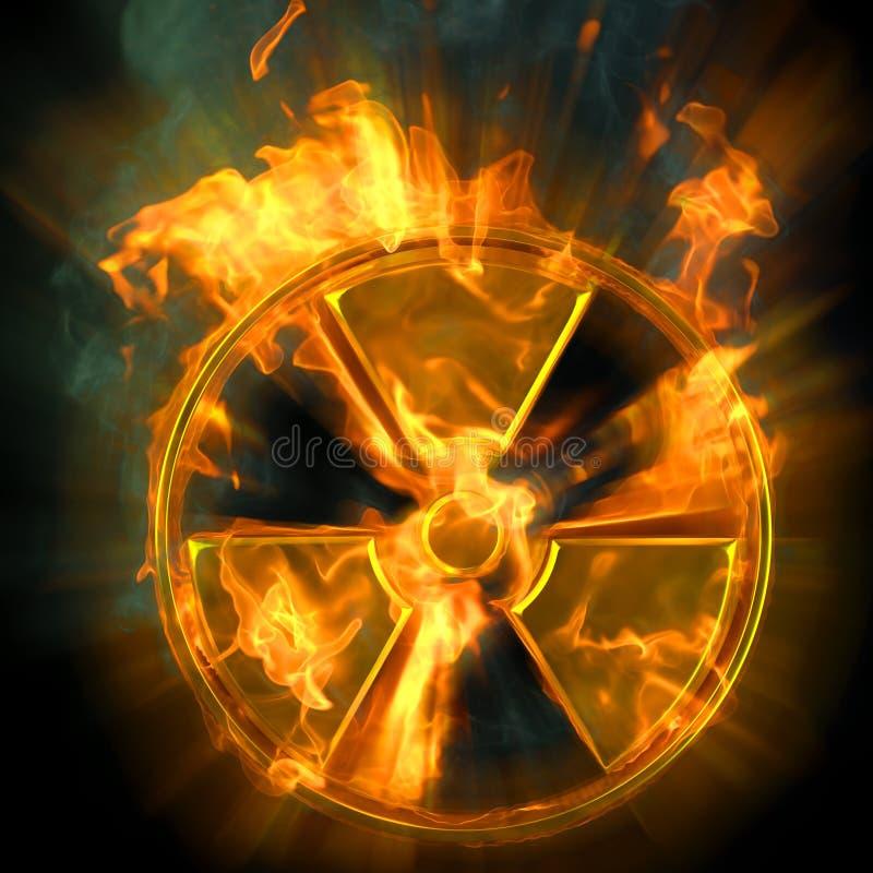 Radiação ilustração stock