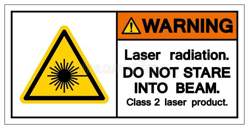 A radiação de laser de advertência não olha fixamente no símbolo do feixe, ilustração do vetor, isolado no ícone branco do fundo  ilustração royalty free