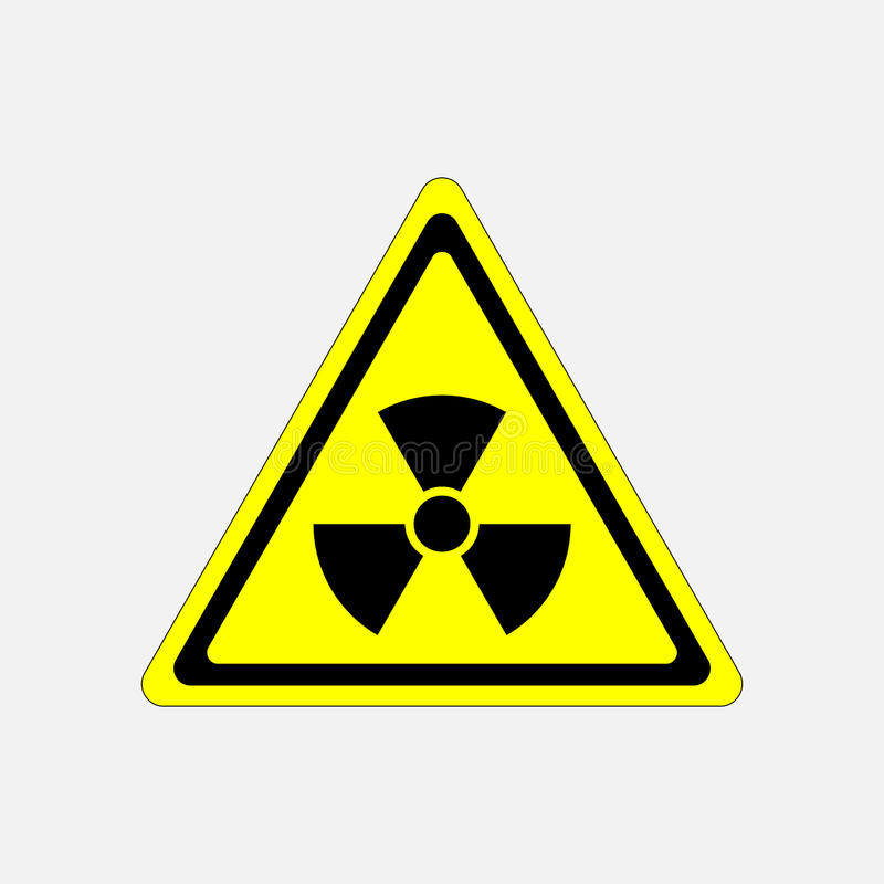 Radiação do sinal do perigo, ameaça do símbolo ilustração do vetor
