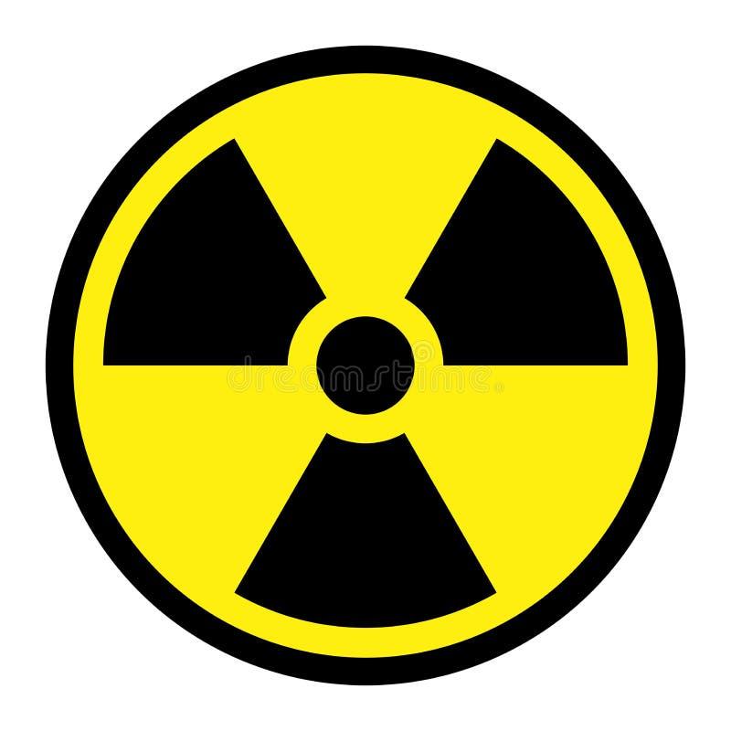 Radiação - sinal redondo ilustração stock