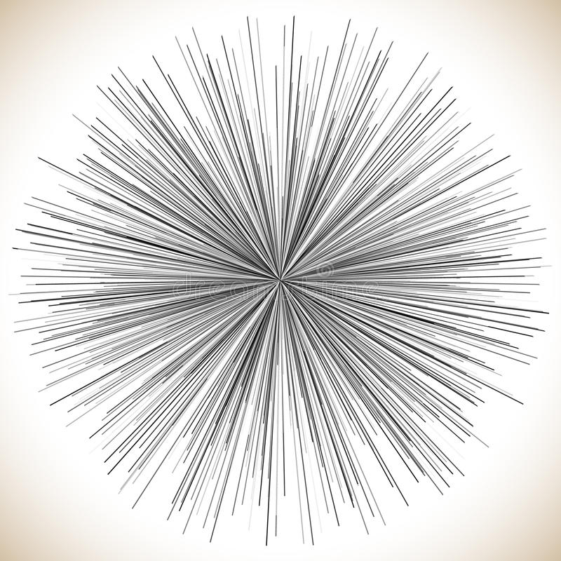 Radiaal lijnenelement Abstracte geometrische illustratie radiating stock illustratie